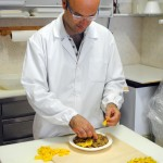 Loris Lepri creates the tortellini for the day.