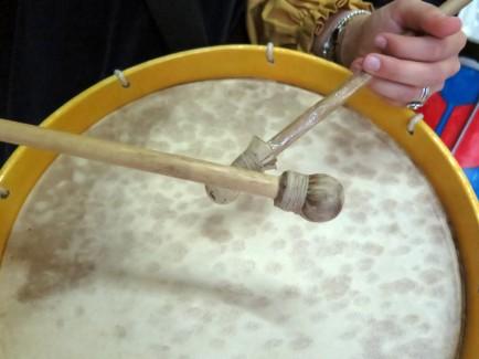 Antonella's drum, July 7, 2014. Photo by Rita Creel/Gonzaga-in-Cagli.
