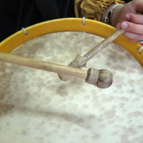 Antonella's drum, July 7, 2014. Photo by Rita Creel/Gonzaga-in-Cagli.