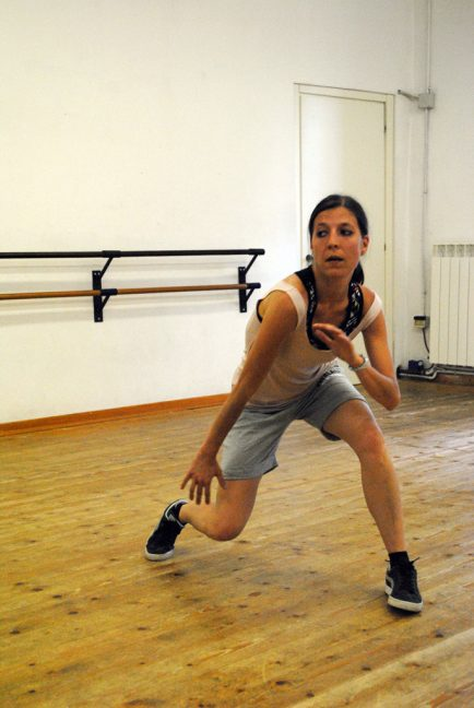 Roberta Sandreani dances Hip Hop in the M.E.F. dance studio in Cagli. Photo by Art Por Diaz / Gonzaga in Cagli