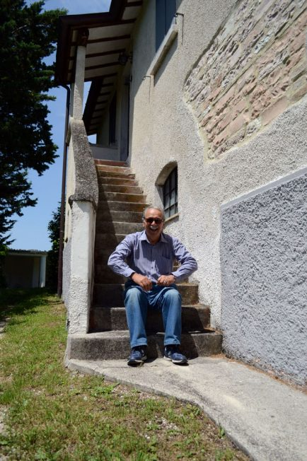 Mauro on the stairs photo by Kate Storms / Gonzaga in Cagli