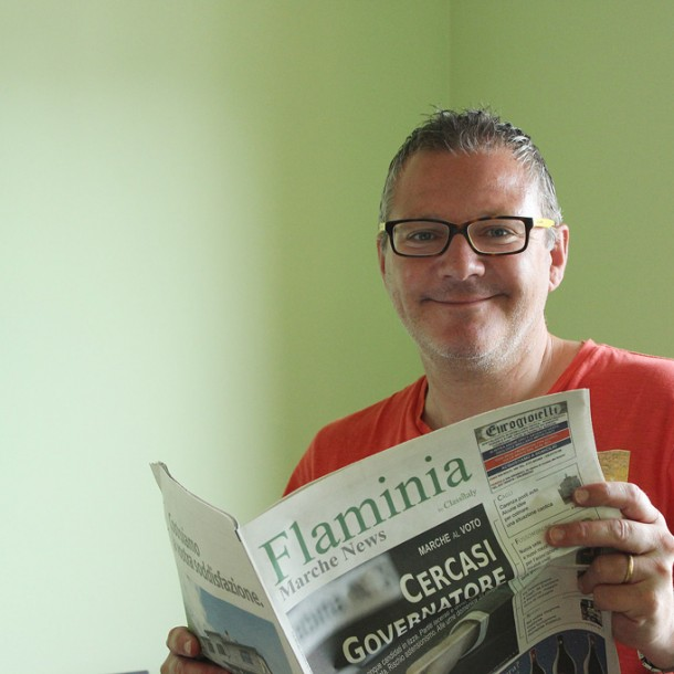 Guido Giovagnoli runs Cagli-based Flaminia Marche News, a free newspaper covering the small towns of the region.