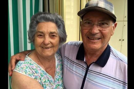 Tagliatesta, with his maternal aunt, Elma Ricci.